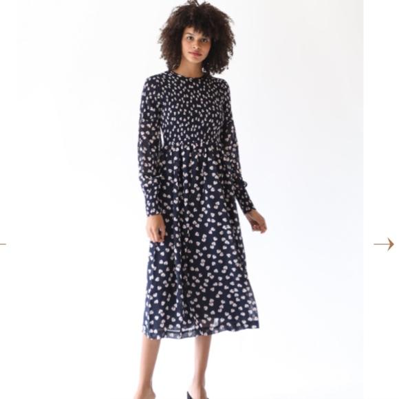 69b67db690c3 Ganni Dresses | Rometty Smocked Floral Dress New With Tags | Poshmark
